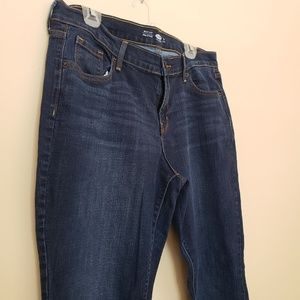 Dark Old Navy Boot Cut Jeans Long